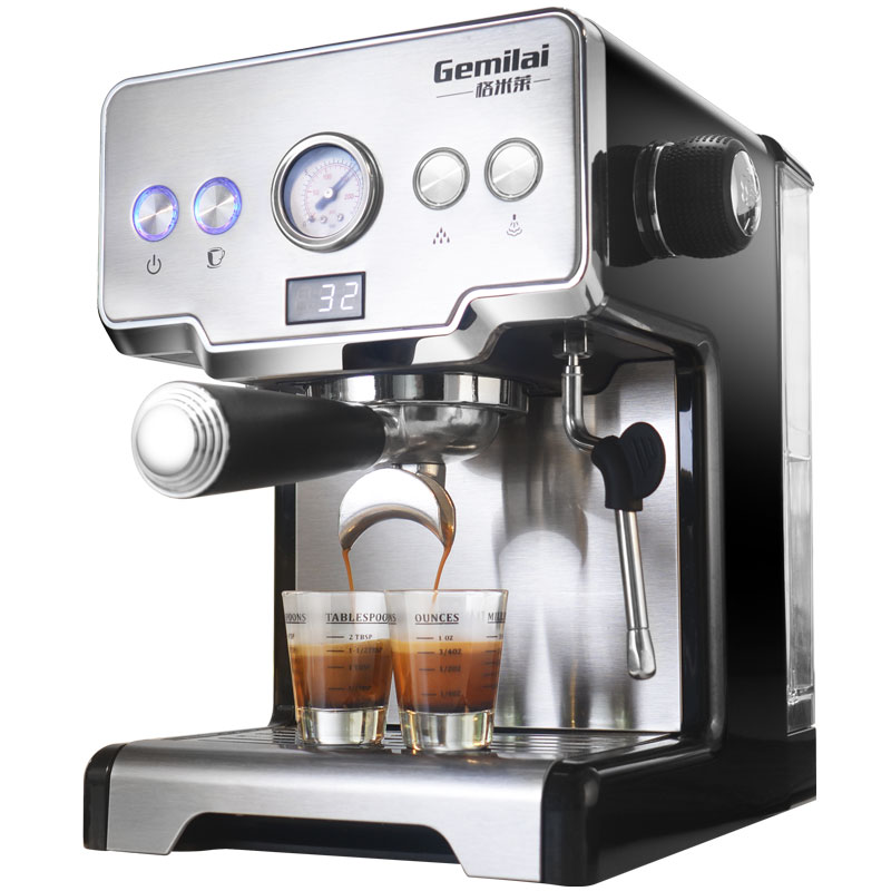 15 Bar Italian Coffee Machine Stainless Steel Steam Semi-automatic Milk Bubble Espresso Coffee Maker Commercial CRM3605
