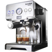 15 Bar Italian Coffee Machine Stainless Steel Steam Semi automatic Milk Bubble Espresso Coffee Maker Commercial CRM3605
