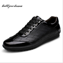 High quality Men's Genuine Leather Casual flat Shoes, New Fashion Comfortable Famous Brand Designer Loafers For Men