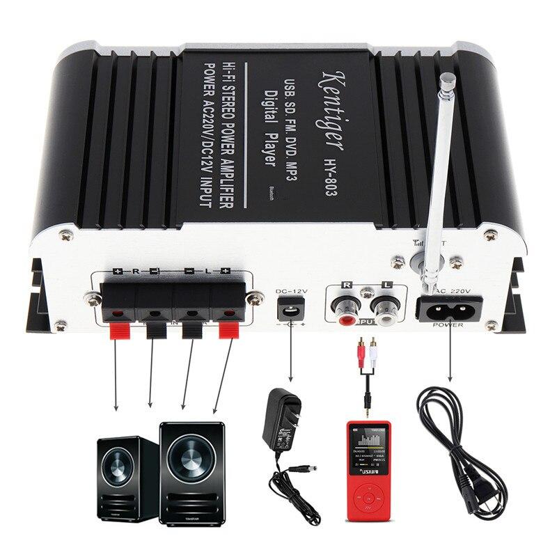 2ch hi-fi Bluetooth Reproductores de audio para el coche energía Amplificadores auto FM Radios reproductor sd/USB/DVD/MP3 entrada para coche de la motocicleta inicio