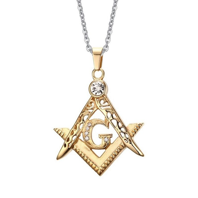 Free mason symbol g initial letter triangle necklace cool jeweled free mason symbol g initial letter triangle necklace cool jeweled stainless steel necklace mens stylish aloadofball Images