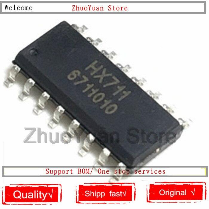 100 sztuk/partia 100% nowy oryginał HX711 SOP 16 HX711 IC chip w Moduły rozpoznawania głosu/sterujące od Elektronika użytkowa na  Grupa 1