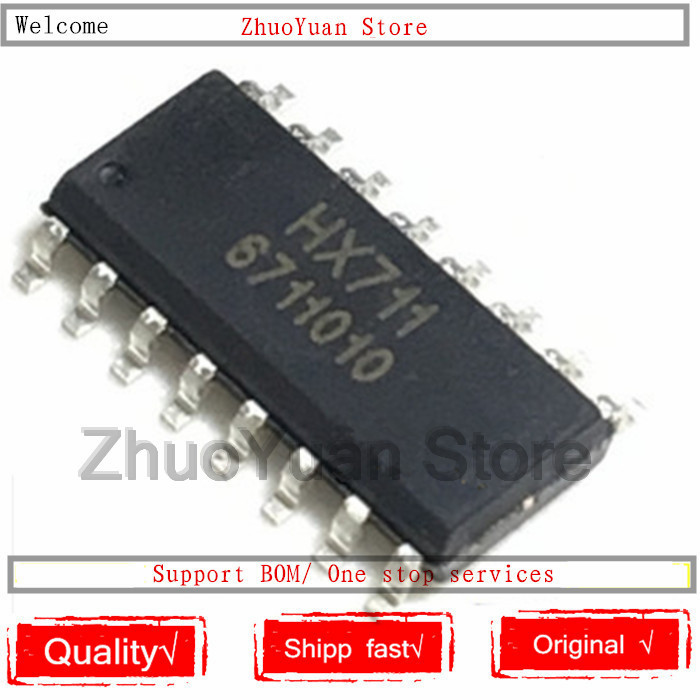 10PCS/lot 100%New Original HX711 SOP-16 HX711 IC Chip