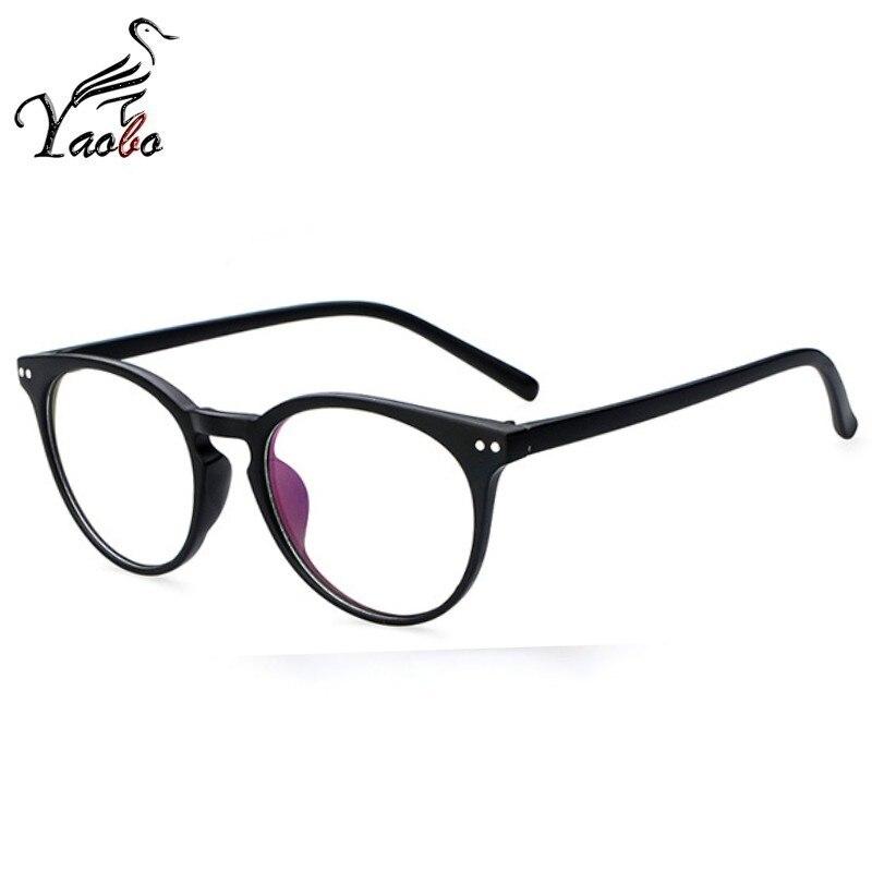 a3f402a46a Nuevo marco de gafas a la moda para mujer, montura de gafas negras para  hombre, montura de gafas transparentes redondas Vintage, montura de gafas  ópticas en ...