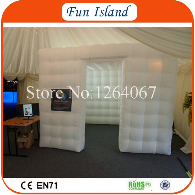 Free Shipping Best Quality Portable Inflatable Photo Booth Cube Tent With LED Lighting