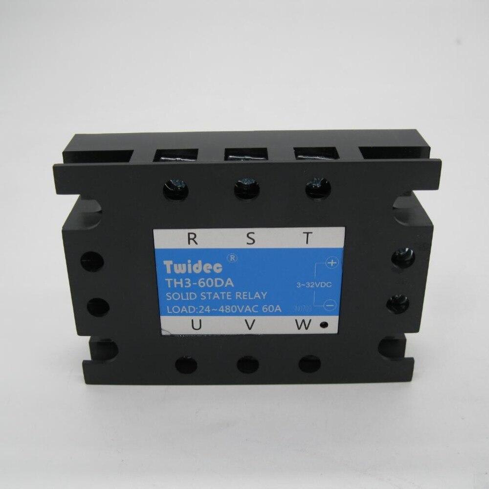 Relais à semi-conducteurs triphasé de haute qualité relais SSR-80DA 3-32VDC à 30-480 V AC SR relais à semi-conducteurs triphasé dc à ac Rele