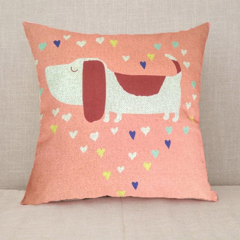 YWZN милый мультяшный чехол для подушки с котом, креативный чехол для подушки с изображением жирафа, декоративный чехол для подушки со слоном, funda cojin kussenhoes - Цвет: 5