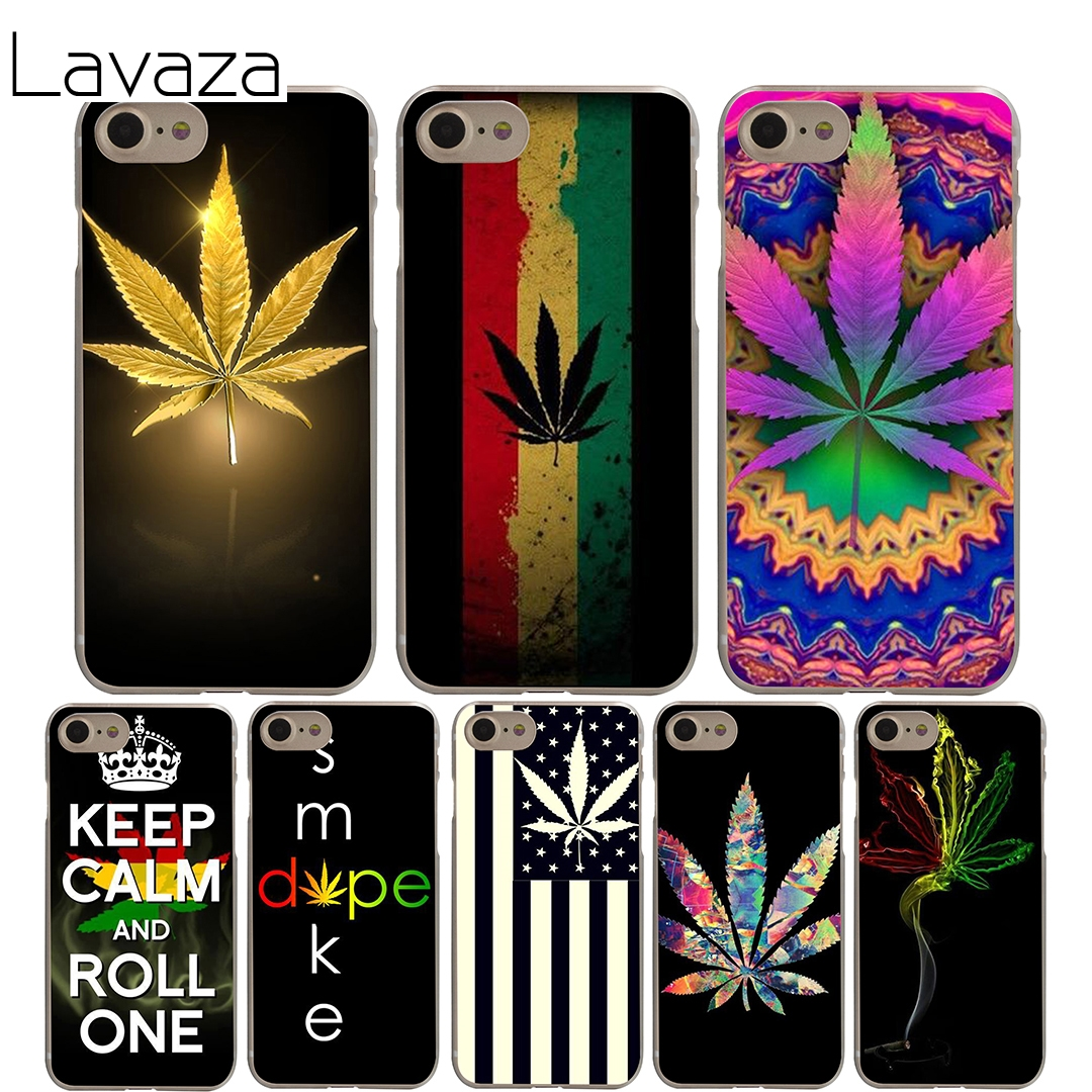 Lavaza Psychadelic Smoke Weed Pot Leaf Cover Case for iPhone 7 6 6S plus Cases for Apple 5 5S 5C SE 4 4S Coque Shell