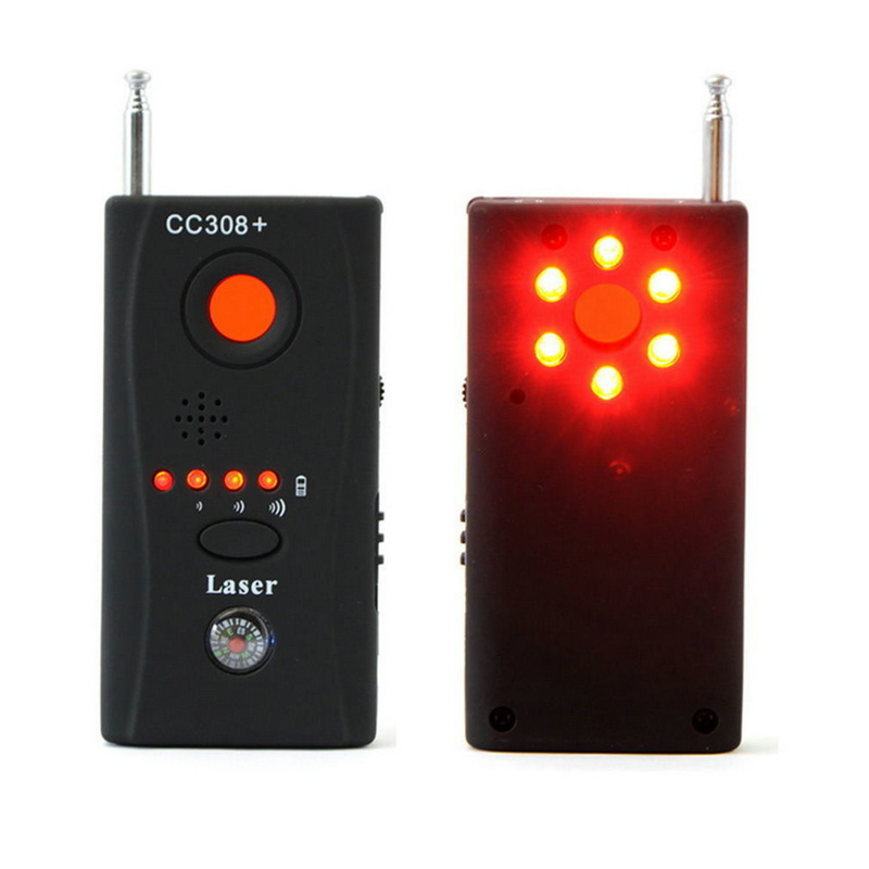 Wholesale CC308 Full Range Wireless Camera GPS Anti-Spy Bug Detect RF Signal Detector GSM Device Finder FNR CC308+ free shipping multi function detectable rf lens detector full range wireless camera gps spy bug rf signal gsm device finder