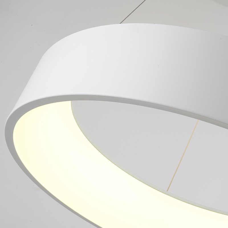 Hiện Đại Đèn LED Tròn Mặt Dây Chuyền Vòng Sáng Hình Tròn Mặt Dây Chuyền Đèn Ốp Trần Treo Chiếu Sáng Cho Nhà Bếp Sống Phòng ăn Phòng Ngủ