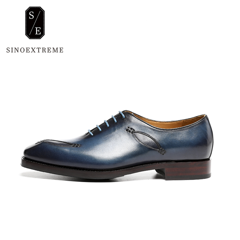 SINOEXTREME 2018 British Style Leather Mens Oxford Shoe Dress Shoes High Quality Formal Shoes For Business Men Lace-Up Shoes mens genuine leather oxfords shoes for men breathable stitching dress shoe british style casual flats oxford pointed toe zapatos
