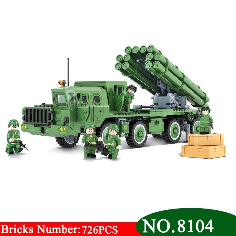 Winner 726 pièces 8104 Technic série le BM-30 Smerch lancement Multiple fusée système modèle bloc de construction classique jouets pour enfants
