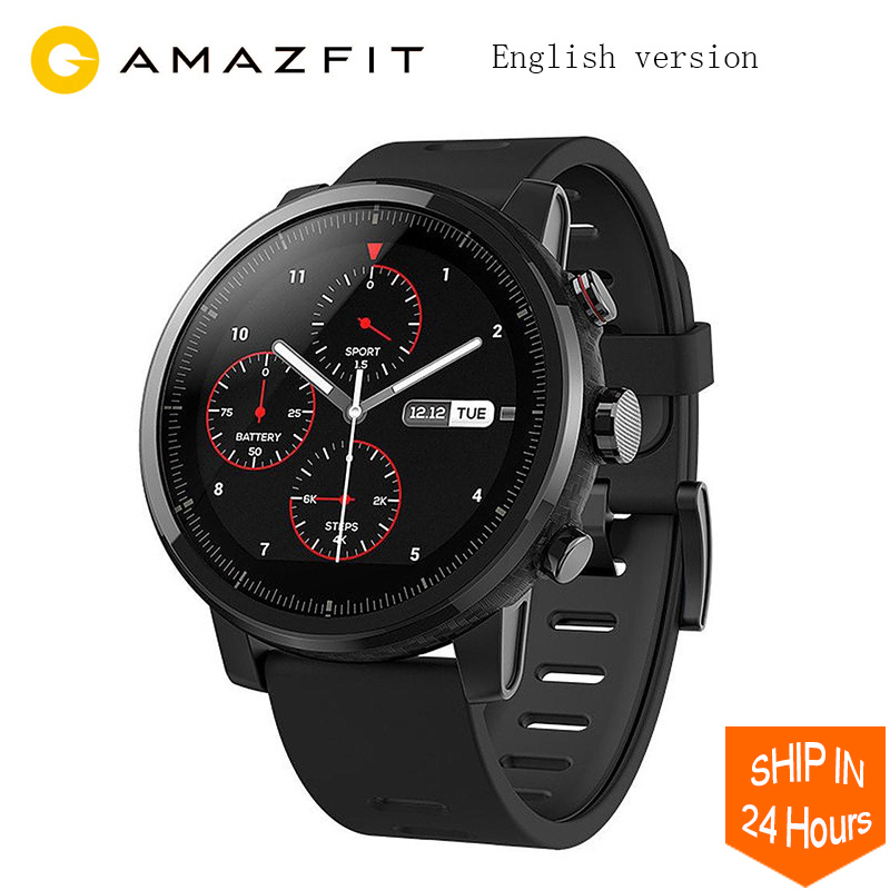 Global Version Huami Amazfit Stratos Smart Sports Watch 2 GPS 5ATM Water 2 5D Screen GPS