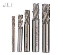 5 шт./компл. JLI 4 флейты 6/8/10/12/14 мм фреза для грубой обработки цилиндрический хвостовик из высокопрочной стали Концевая фреза с покрытием Алюминий нитрид Титан CNC фрезерные инструменты