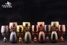400ml/550ml/900ml Pineapple Mug Cups Tumbler Cocktail Stainless Steel Beer Moscow Copper