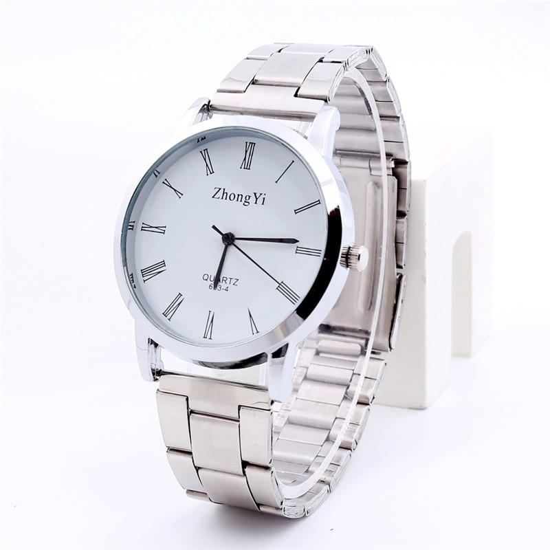 Fashion Couple Lover's Watches Women Men Luxury  Stainless Steel Analog Quartz Wrist Watch Watches Relogios Clock Hours