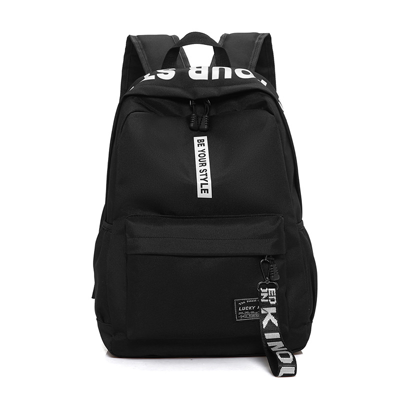 New casual backpack nylon solid color student bag hiking backpacks