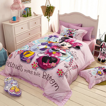 Disney Cartoon Minnie Mouse Donald Duck Goofy 100% cotton Bedding Sets for Childrens Bedroom Decor Bed covers Twin Queen Sheet