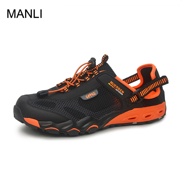 Manli 2018 Summer Wading Quick Dry Beach Male Outdoor Hiking Shoes Mesh Men Upstream Breathable