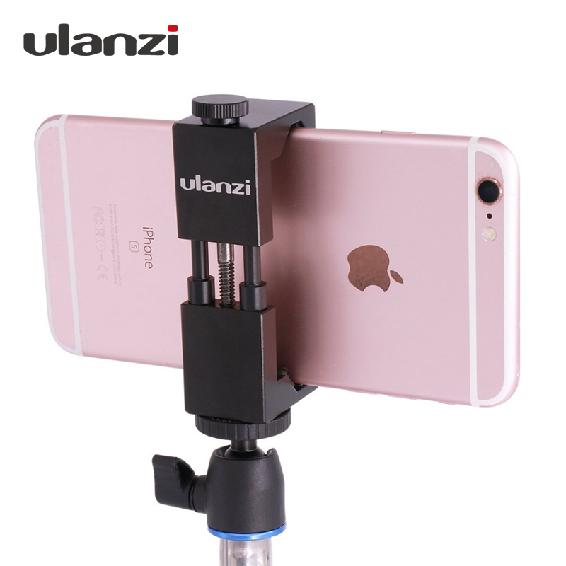 Ulanzi IRON MAN Aluminum Universal Phone Mount Holder Stand Clip Tripod Mount Adapter for  iPhone 7 / 7 Plus Android Smartphone aluminum alloy clip on flexible neck stand mount holder for iphone 5 more black
