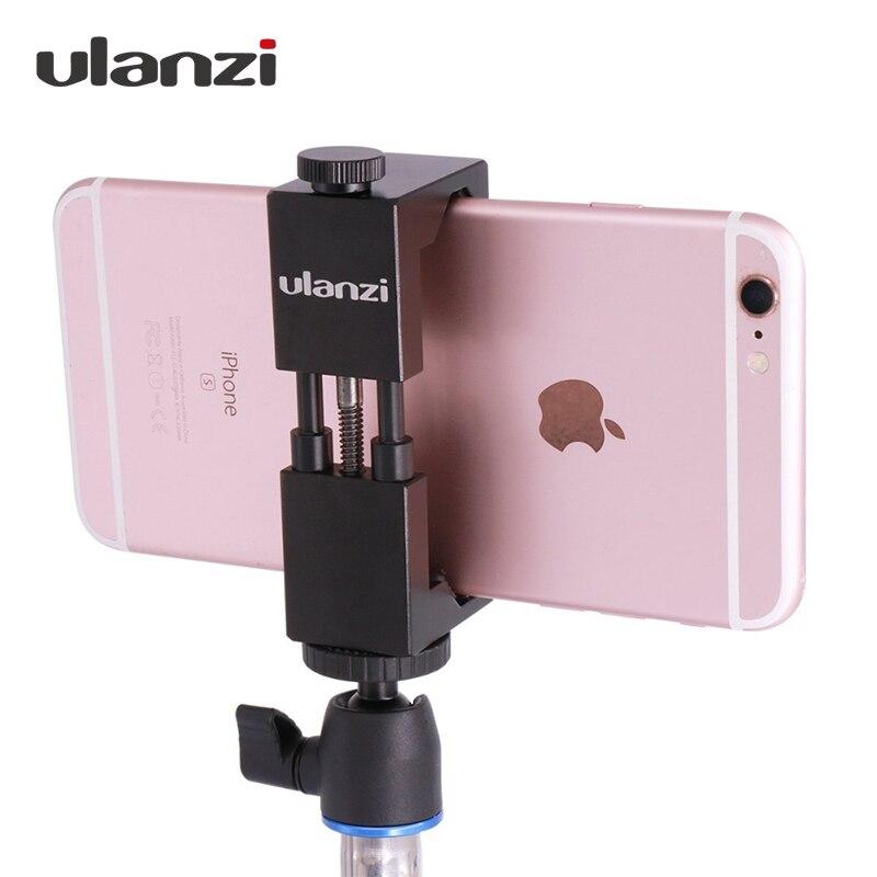Ulanzi IRON MAN Aluminum Universal Phone Mount Holder Stand Clip font b Tripod b font Mount