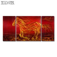 Tooarts Running Horse Picture Modern Painting Wall Art Animal Original Home Decor Spray Painting Home Decoration Accessories