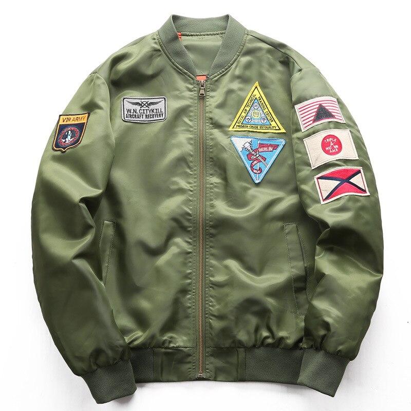 Bomber Jacket Mens Flight Jacket Pilot Air Force Male Ma1