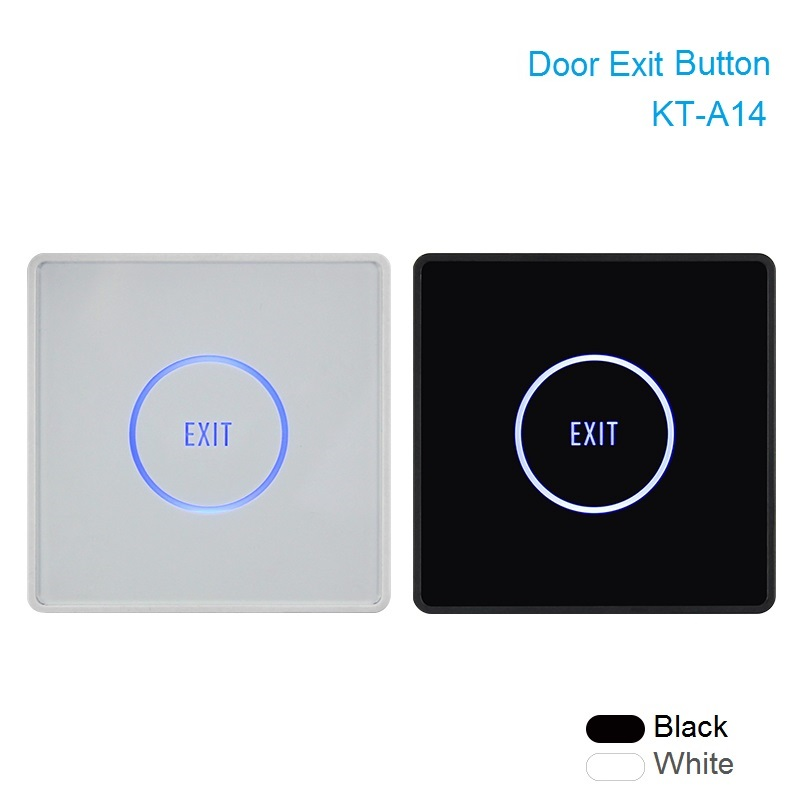 Thin Touch Exit Button Infrared Sensing Surface Plexiglass Waterproof LED Indicator Door Exit Switch For Access Control system exit wound