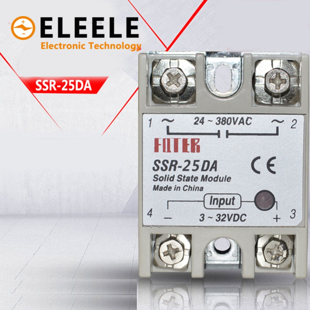 Detail Feedback Questions About Solid State Relay Ssr 10da 25da Spdt 12v 40da 10a 25a 40a Actually 3 32v Dc To 24 380v Ac Dmwd New Pn35 On