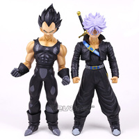 Dragon Ball Z Vegeta Preto/Trunks PVC Action Figure Collectible Modelo Toy Super Tamanho Grande 44 cm/40 cm