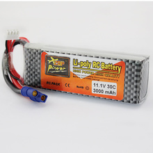 11.1v 3000mah 3S 30C EC3 Plug Zop Power Polymer Lithium Lipo Battery for Blade 350QX/450 RC Helicoper Drone Bateria