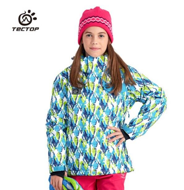 Prix pour TECTOP Garçons Filles Hiver Camouflage En Plein Air Jouer Enfant Vêtements de Ski Snowboard Vêtements Neige Veste Enfants Ski Et Snowboard Manteaux