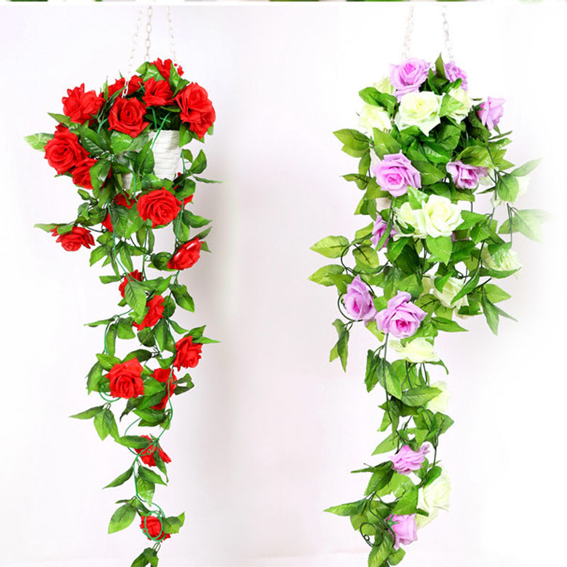 Online buy wholesale artificial hanging vines from china for Artificial flowers for home decoration online