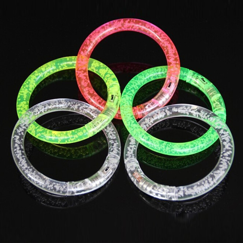 12pcsParty Led Bracelet Colorful changing LED Ankle bracelet  Light up Bracelet flashing acrylic glowing bracelet birthday Part (1)