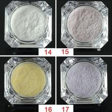 1g Sugar Colorful Holographic Nail Glitter Powder Nail Art Beauty Summer Decor Manicure Pigment Nail Powder Dust Tip