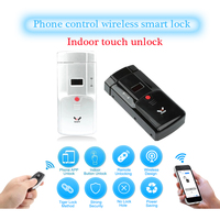 WAFU 011 Wireless Smart Lock Electronic Door Lock Phone Control Remote Control Electronic Finger Touch Lock Invisible Locks