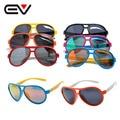 Hot 2016 Fashion Children's UV400 Polarized Coating Sunglasses Kids Mirrors Eyewear Sun Glasses with Case Cloth EV1233