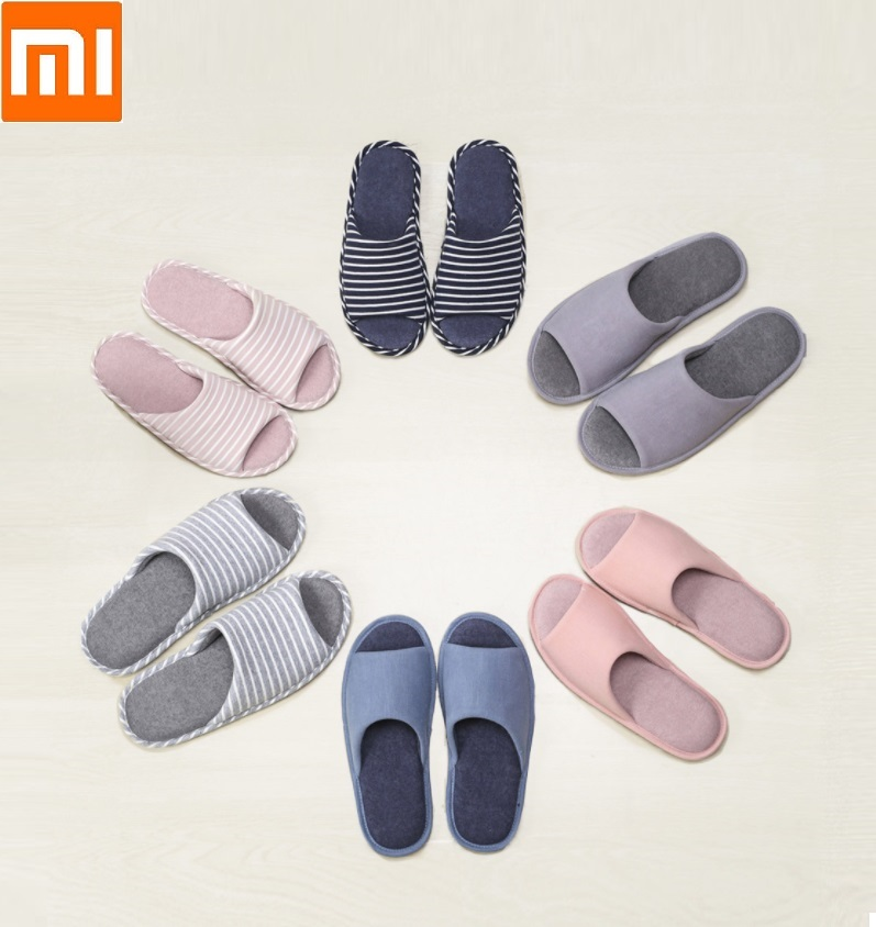 Xiaomi Male Female Keep warm Home flip flop Autumn and winter Non-slip breathable Cotton slippersXiaomi Male Female Keep warm Home flip flop Autumn and winter Non-slip breathable Cotton slippers