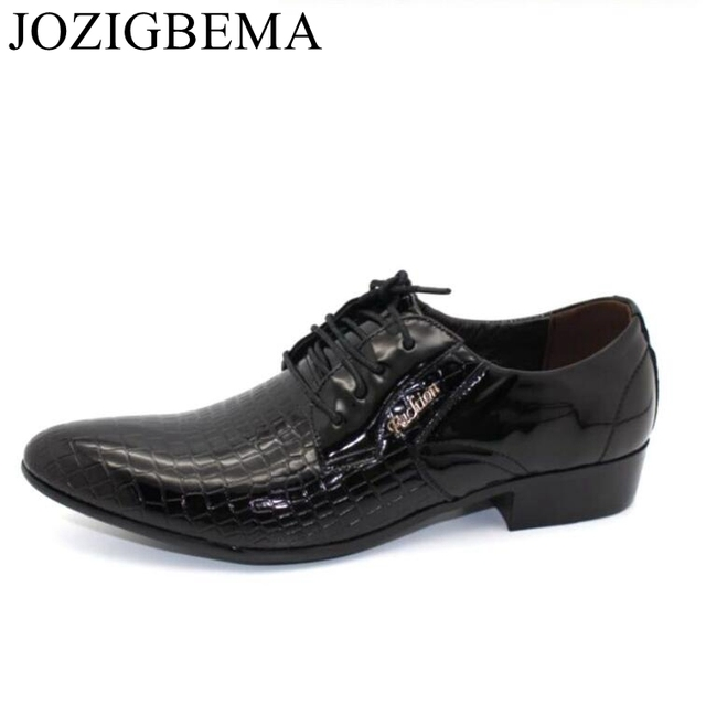 JOZIGBEMA New Classic Business Men Dress Shoes Fashion Style Man Leather  Shoes Social Sapato Male Oxfords For Men Wedding Shoe 0c68abcd19a6