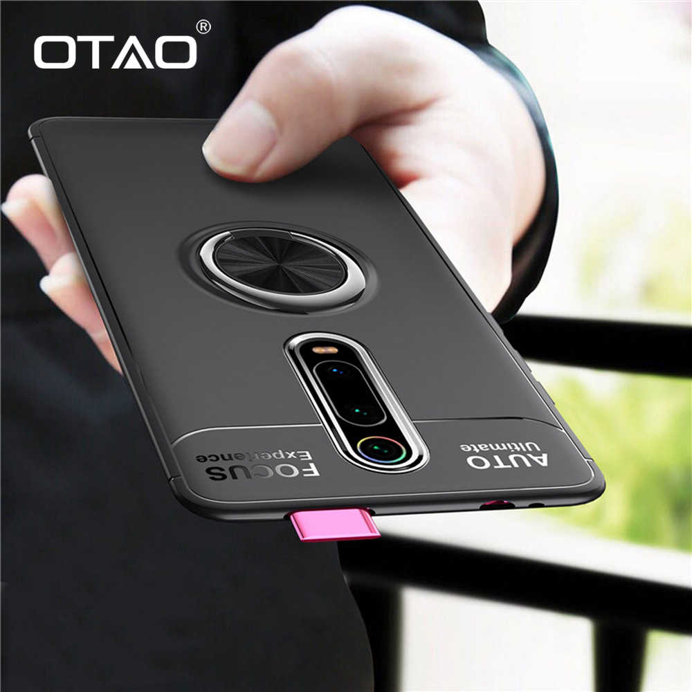 OTAO Shockproof Armor Case For Xiaomi Mi 8 se Pocophone F1 Max 3 Case Car Magnetic Ring Holder Cover For Redmi K20 7 Case Coque
