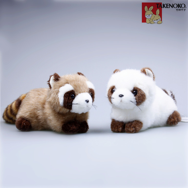 Free shipping one pair Plush raccoon doll Mini cute simulation  Plush animal  ornaments Birthday gifts Toys Cute birthday gift