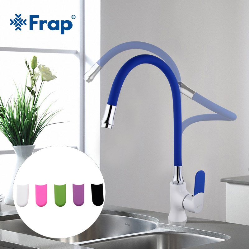 Robinets de cuisine FRAP robinets d'évier de cuisine couleur mélangeur de cuisine robinet de mélangeur d'eau monté sur pont pour cuisine
