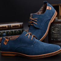 New Arrival European Style Fashion Men Casual Shoes Large Size Leather Shoes Tide Solid Color Comfortable