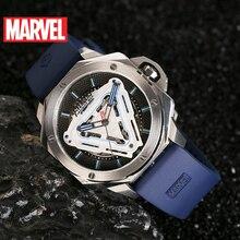 Disney  Marvel Avengers Iron Men Automatic Mechanical Waterproof Watches Male Luminous Full Steel Sapphire Mirror Luxury Watch