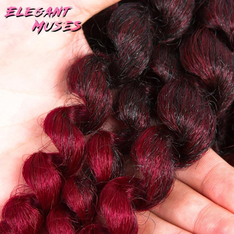Jamaicansk studs krulle twist hår tresse virka flätor hår - Syntetiskt hår - Foto 6