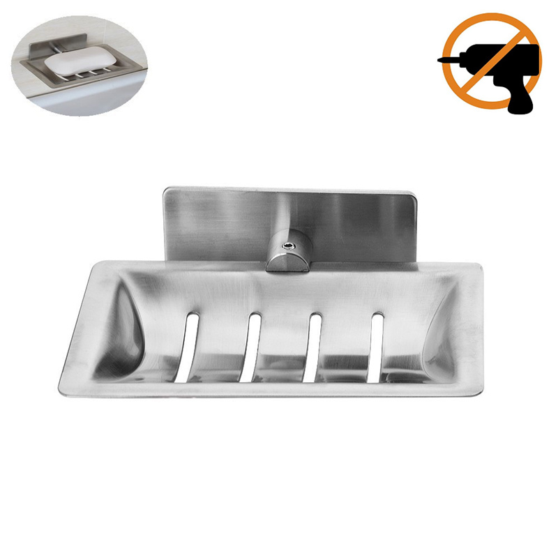 Leyden Stainless Steel Soap Dish Holder Brushed Nickel M Adhesive - Ceramic soap dish adhesive