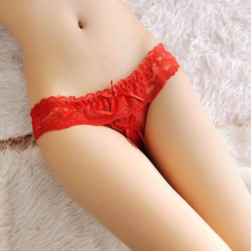 Women's Panties For Sex String Thongs Sexy Lingerie Briefs Open Crotch Pants Female Erotic Underwear Sex Panties With A Hole