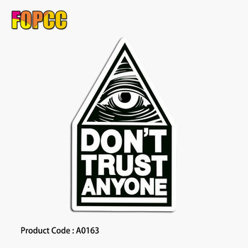 black eye don't trust anyone sticker cool waterproof laptop suitcase guitar luggage skateboard bicycle toy moto stickers image