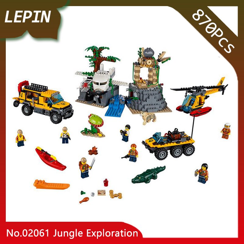 Lepin 02061 Jungle Exploration Raiders of the Lost Ark CITY Series 870Pcs Building Blocks set Bricks Children For Toys Doinbby new lepin 16009 1151pcs queen anne s revenge pirates of the caribbean building blocks set compatible legoed with 4195 children