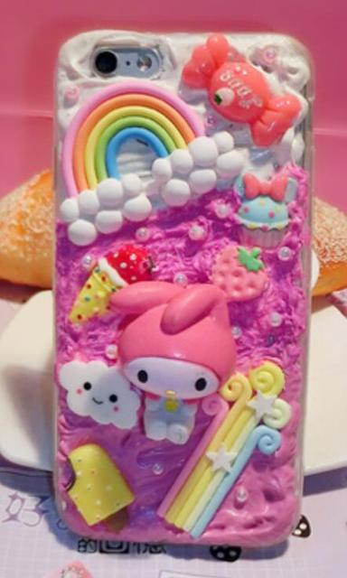 best service 7b8f7 69f69 US $15.0 |Cute Sailor Moon 3D Kawaii Decoden Whipped Cream Phone Case for  iPhone 7 plus case-in Rhinestone Cases from Cellphones & Telecommunications  ...